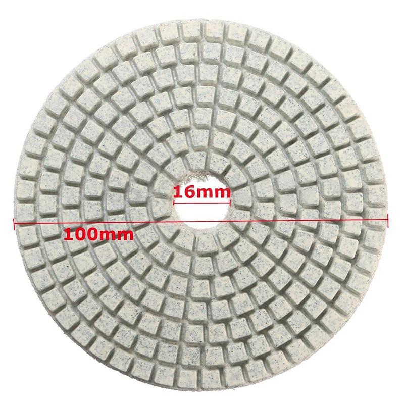 Diamond Polishing Pads 4 inch Wet//Dry 20 PC Set /& Backer Marble Granite Concrete