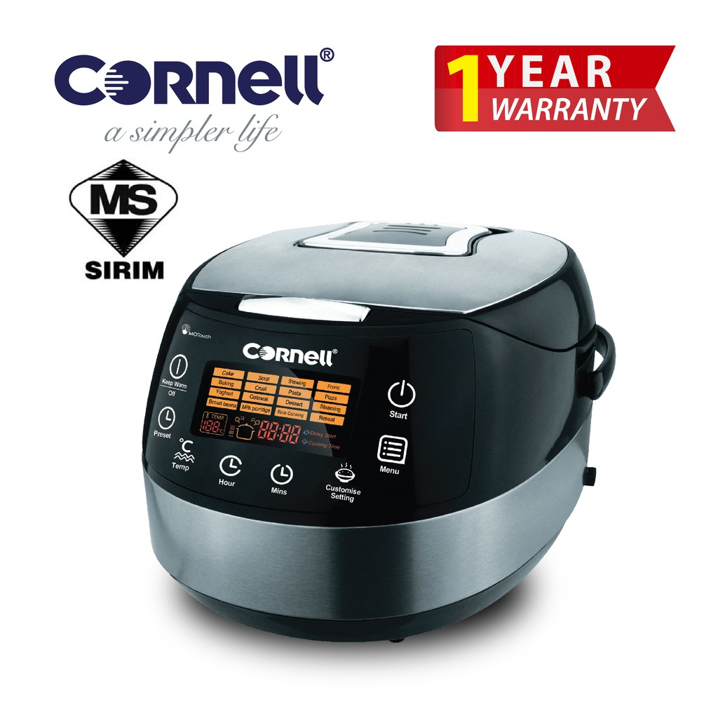 Cornell CRC-JP185D 1.8L All-In-One 16 Functions Smart Cooker |Multi-use cooker| Cooking Soup