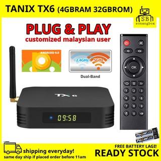 TX6 Smart TV Box Android 7 1 H6 4GB 32GB Tanix   Shopee Malaysia