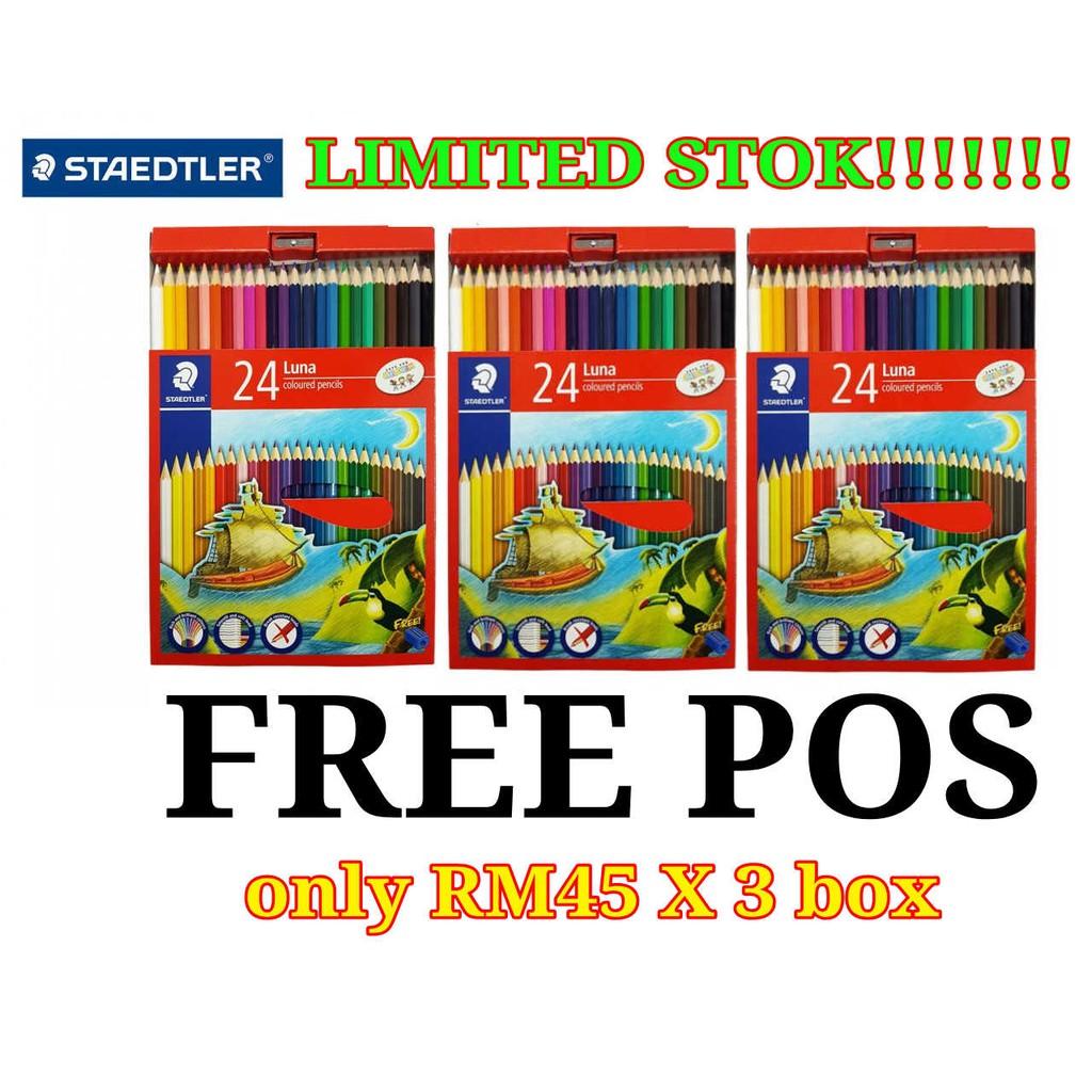 Pensel warna Staedtler Luna 24 LONG , 3 kotak @ RM45 POS FREE