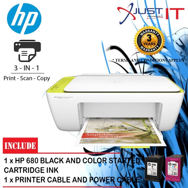 Hp Deskjet Ink Advantage 2135 All In One Printer Extra Free 1unit Black Ink Shopee Malaysia