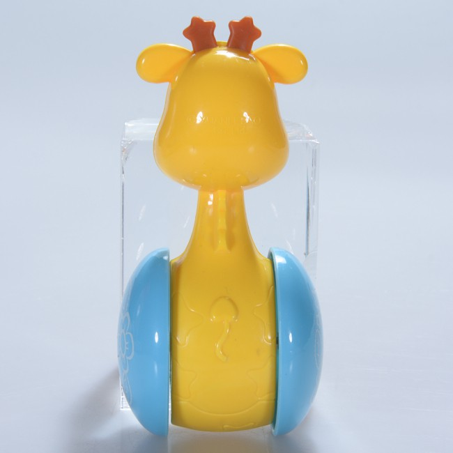 Baby Rattles Handbells Early Educational Toys for 3-12 Month Infant Yellow