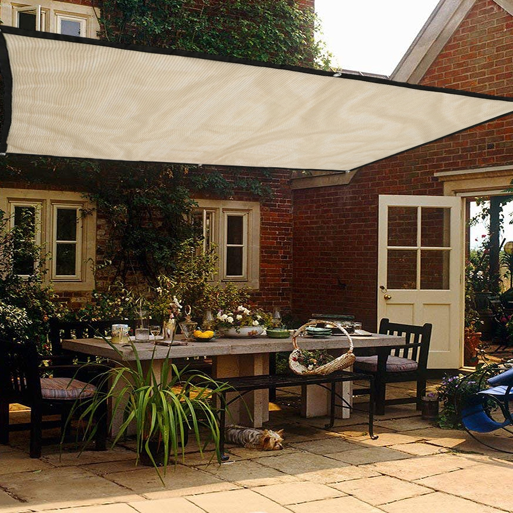 Wrapped bonsai awning 1.8M Sunproof Sun Shade Sail Outdoor ... on Shade Sail Backyard Ideas id=80664