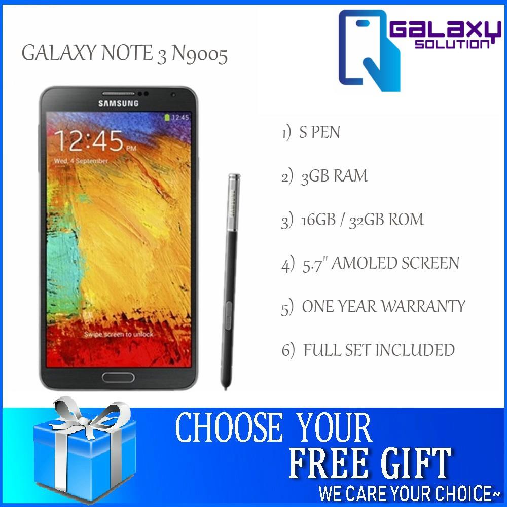 Galaxy Note 3 N9005 3GB RAM 16GB ROM (Original New Refurbished)