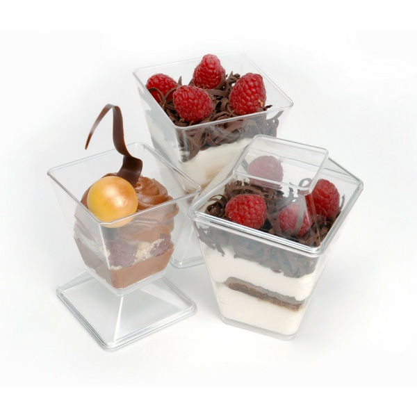 Pastry Pro, Dessert Cup With Cover Square, 220ml, 10sets