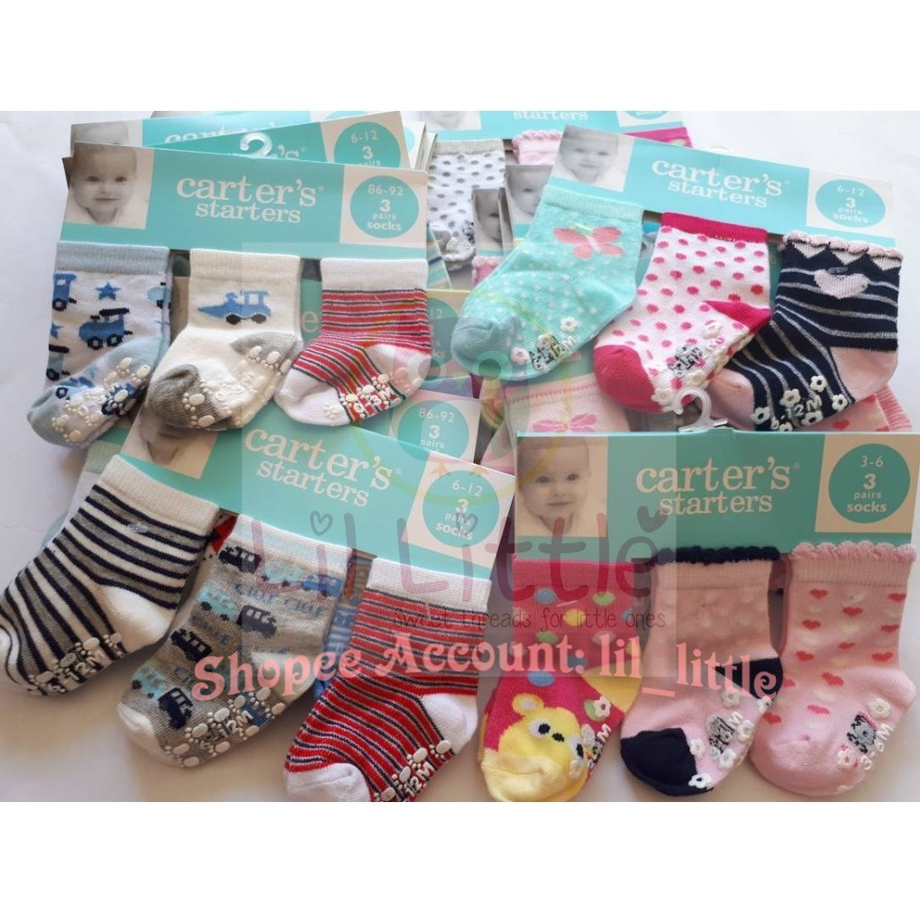 Lot Of New Carter/'s Baby Socks 3-12m Christmas 4 Pairs Total