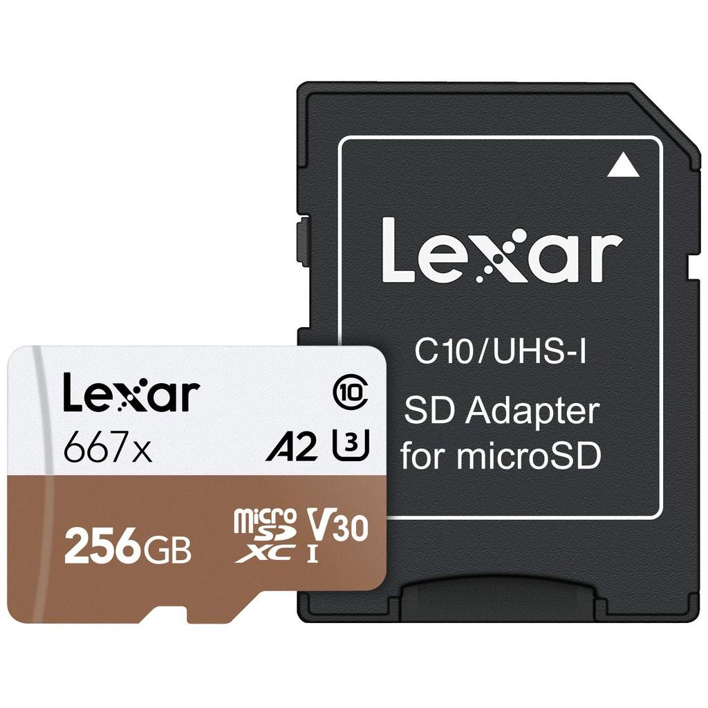 Lexar Professional 667x 256GB microSDXC 4K Full HD A2 V30 C10 100MB/s w/adapter