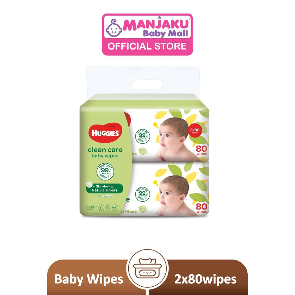 Huggies Baby Wipes (80's x 2)