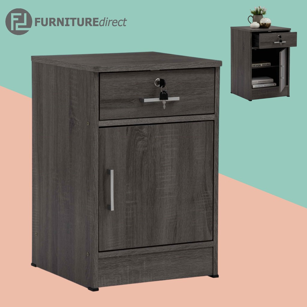 Furniture Direct DUBLIN bedside table with key lock/ bedside table