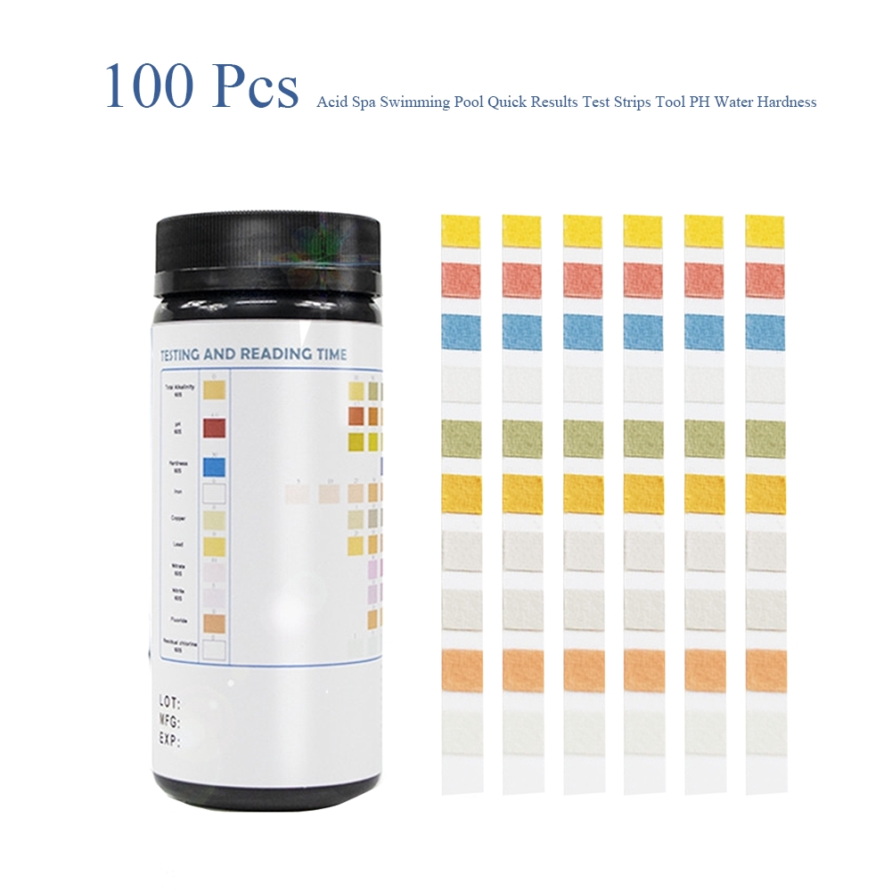 Bromine Swimming Pool 10 In 1 PH Spa Quick Results Water Hardness Test  Strips