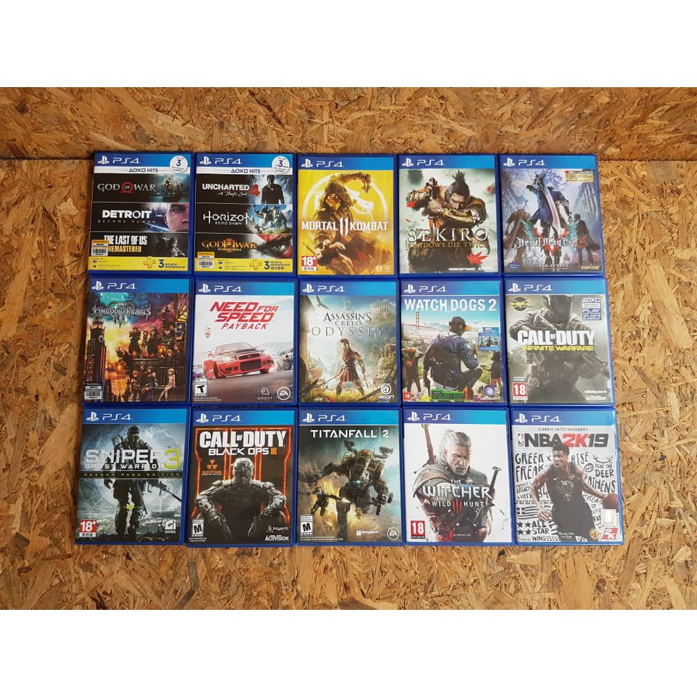 Used Ps4 games Collection