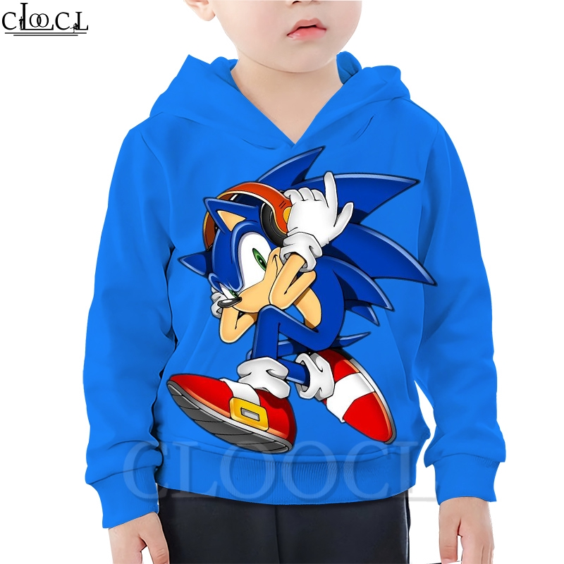 Cloocl Sonic The Hedgehog Anime Children S Hoodie 3d Printed Fashion Boy Little Hoodie Summer Sports Jacket Shopee Malaysia