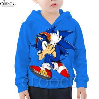 Cloocl Sonic The Hedgehog Anime Children S Hoodie 3d Printed Fashion Boy Little Hoodie Summer Sports Jacket Shopee Malaysia