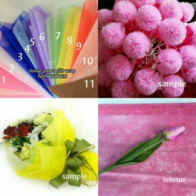 100pc Tissue Paper Nonwoven Flower Gift Wrap Bouquet Flower