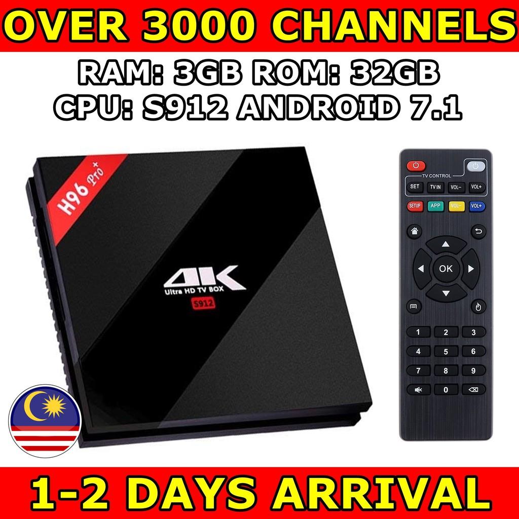 [PREINSTALL LATEST APPS] H96 PRO+ 3GB 32GB S912 tv box ANDROID BOX Kodi  astro