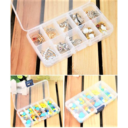 Pill Box 10 Grids Medicine Health Tablet Holder Storage Container Case Pill Box