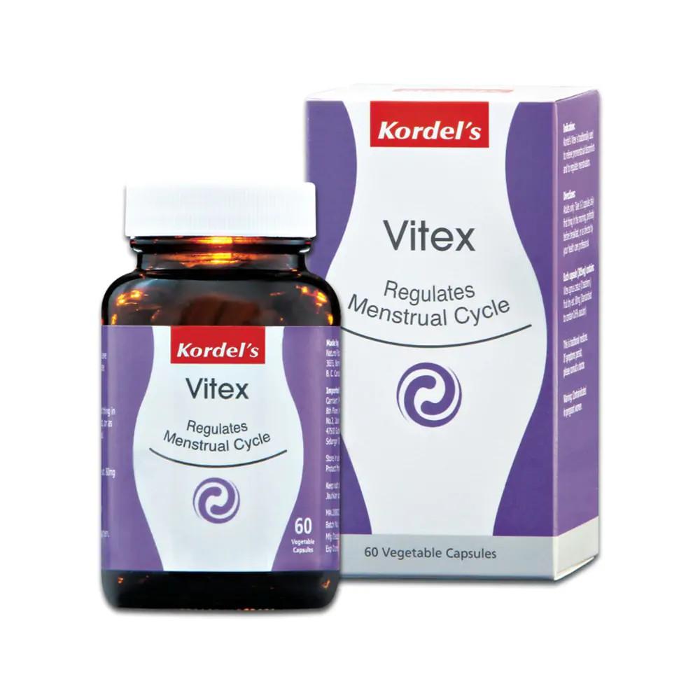 KORDEL'S VITEX REGULATES MENSTRUAL CYCLE VEGE CAPS 60'S