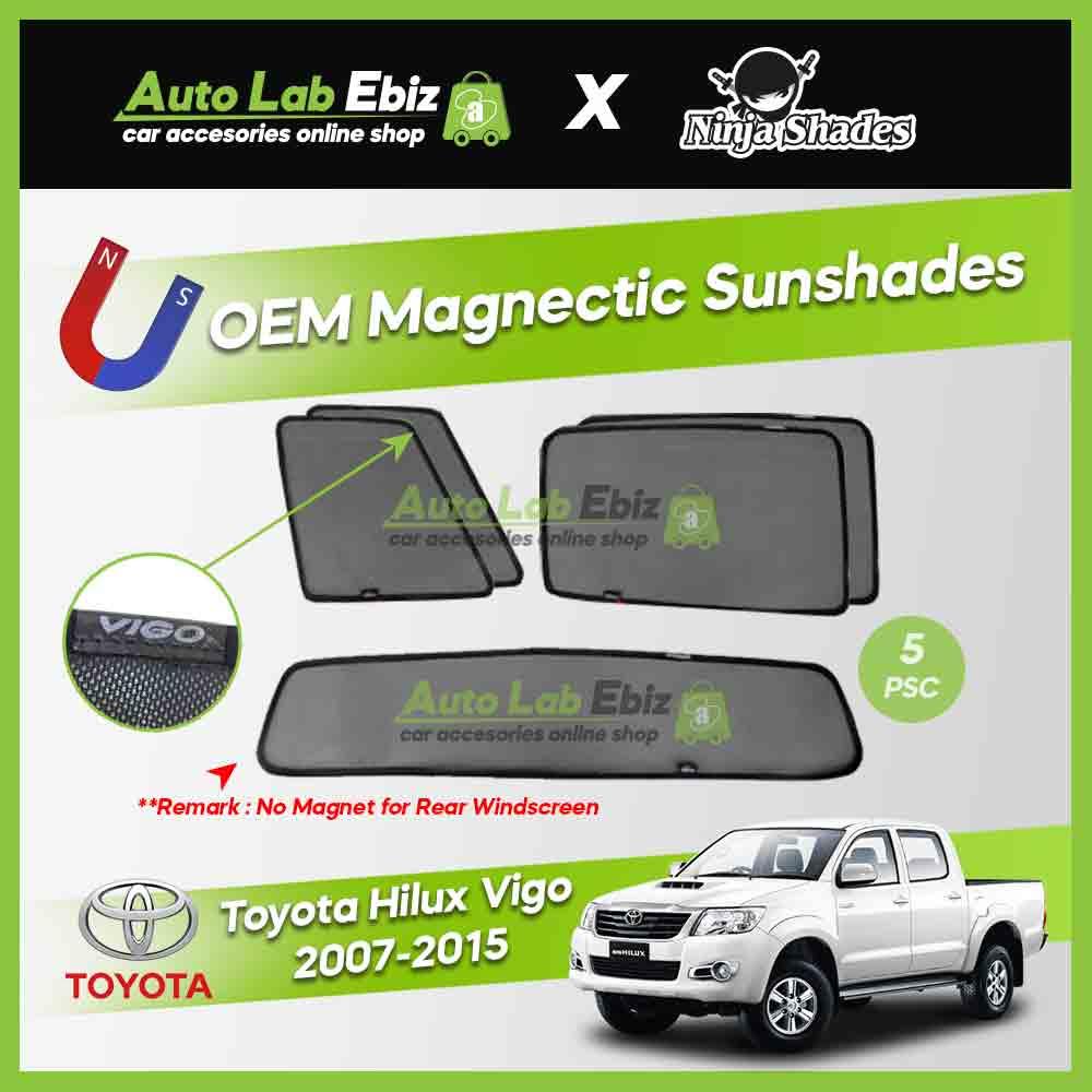 Toyota Hilux Vigo 2007-2015 Ninja Shades OEM Magnetic Sunshade (5pcs)