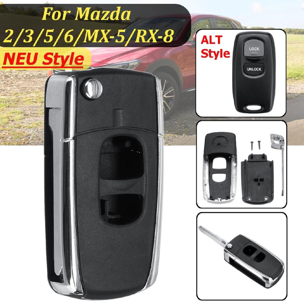 2 Button Protect Shell Green Silicone Case Cover For Mazda Flip Remote Key 3 5 6