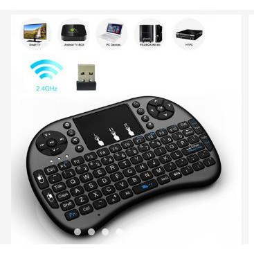 READY STOCK SHP] I8 2.4G Fly Air Mouse Wireless Gaming Keyboard Touchpad Smart TV