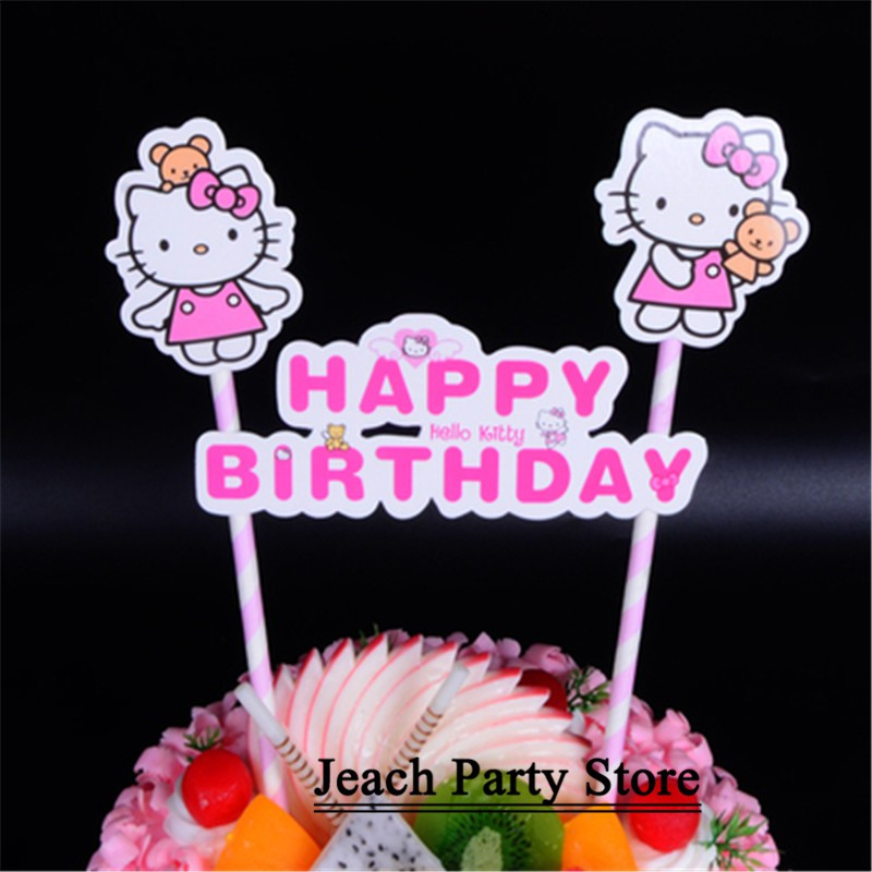 Sensational Hello Kitty Birthday Cupcake Toppers Cake Decorating Supplies Personalised Birthday Cards Cominlily Jamesorg