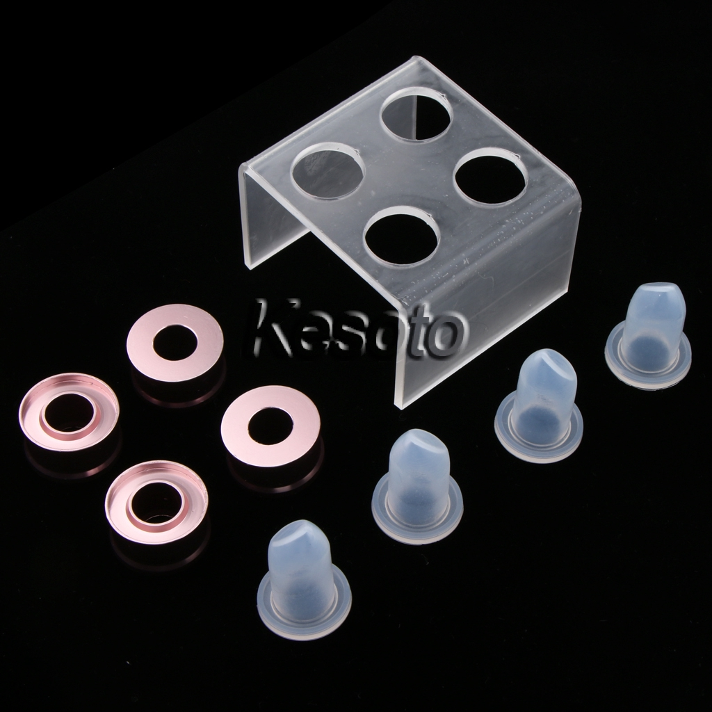 1 Pc Acrylic Shelf Six Holes Clear Lipstick Mould Holder Lip Balm Mold Stand