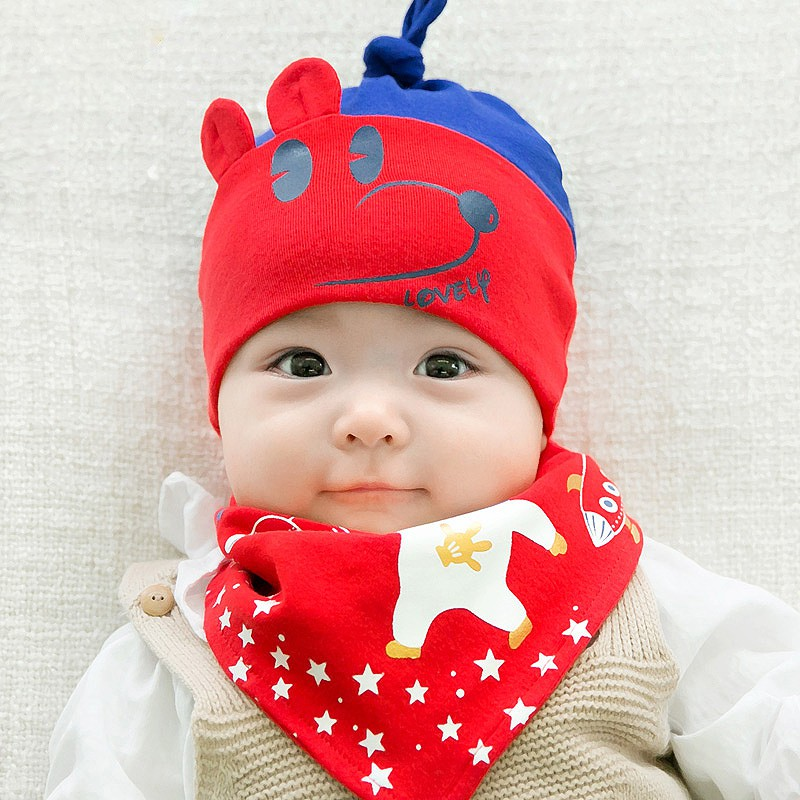 Children s baseball cap winter Korean version of the tide warm plush cap  boys girls hair ball hat autumn and winter baby  578dab82b226