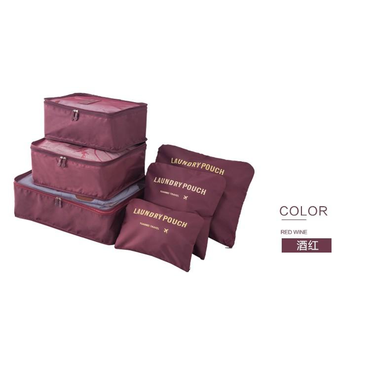 #Beg Travel Organizer Bag 6pcs Set Luggage Bags