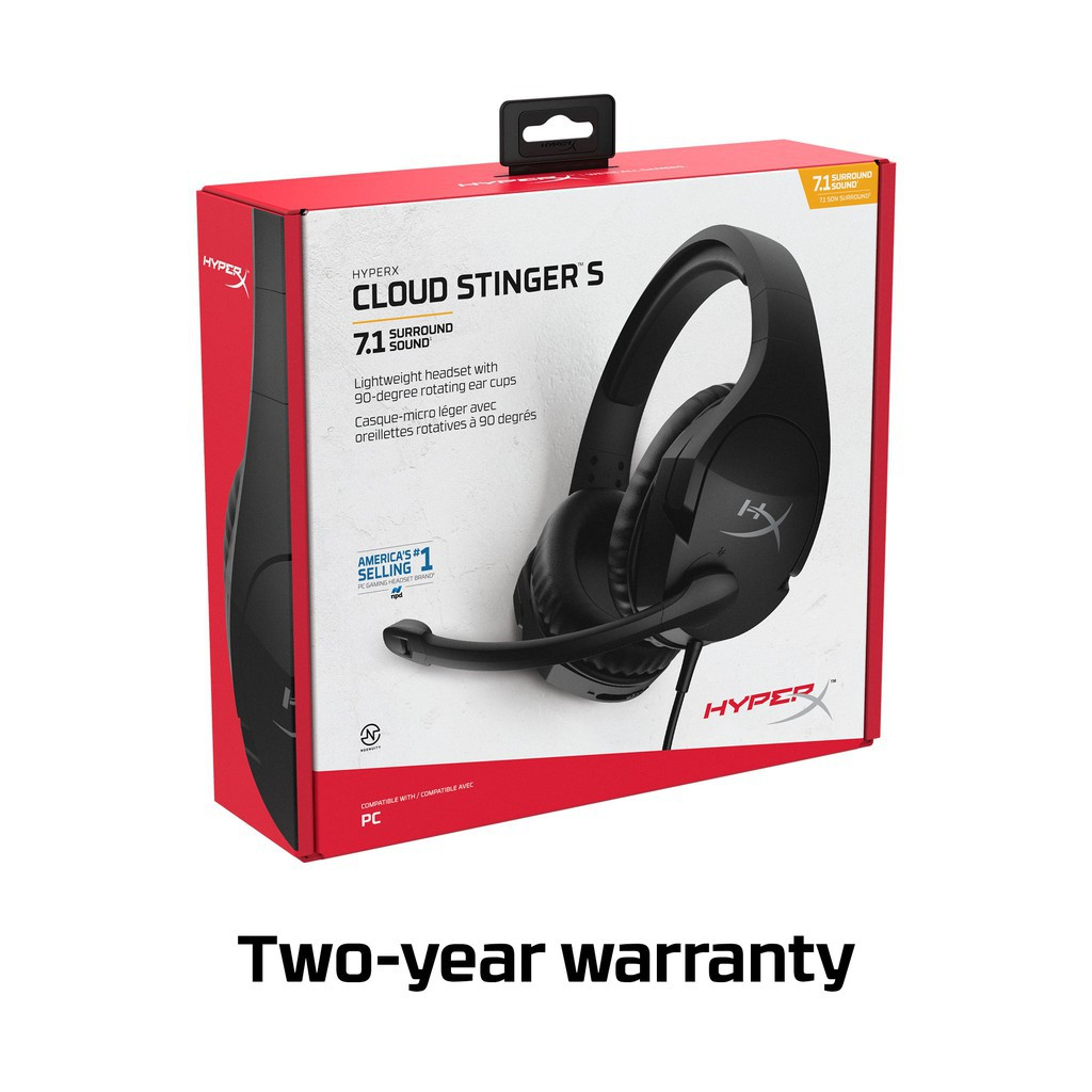 {HHSS1S-AA-BK/G} HyperX Cloud Stinger S Gaming Headset - PC