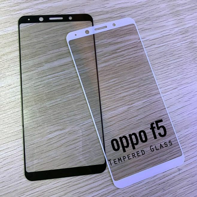 OPPO F5 Screen Tempered Glass Full Cover Screen protector READY STOCK 9H 2.5D | Shopee Malaysia