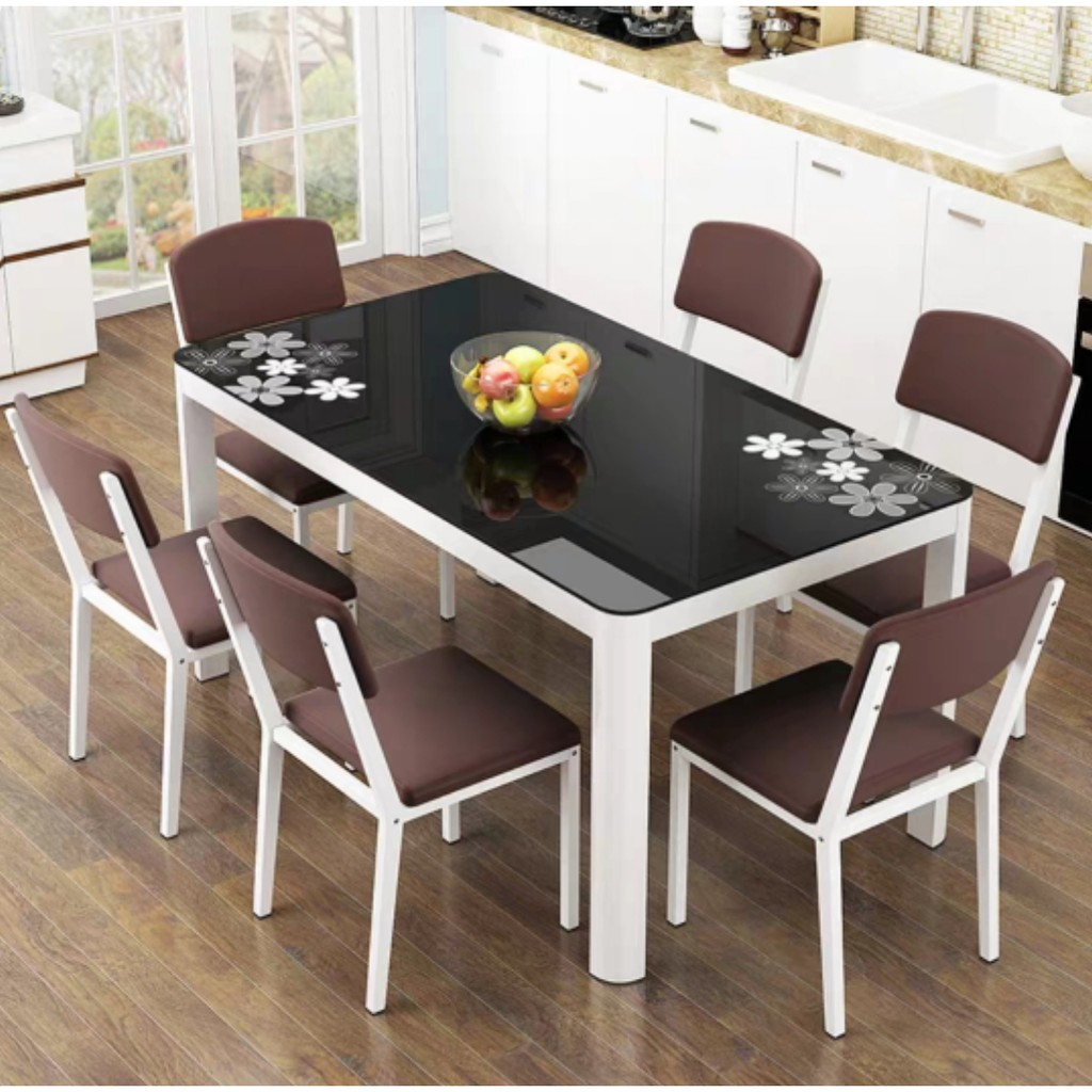 Free Shipping Dining Table Chair Set Dt C 6 Seat 4 Seat Dining Room Family Table Shopee Malaysia