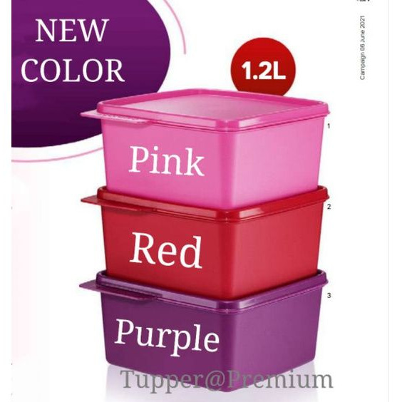 (READY STOCK) Tupperware snack n stack 1.25L (1 or 3pcs)