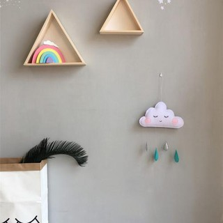 c805bc9221e95 Nordic Style Felt Cloud Raindrop Pendant Children's Room Tent ...