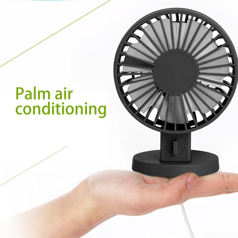 Low Noice Mini USB Rechargeable Portable Handheld Air Cooler Cooling Fan Desk