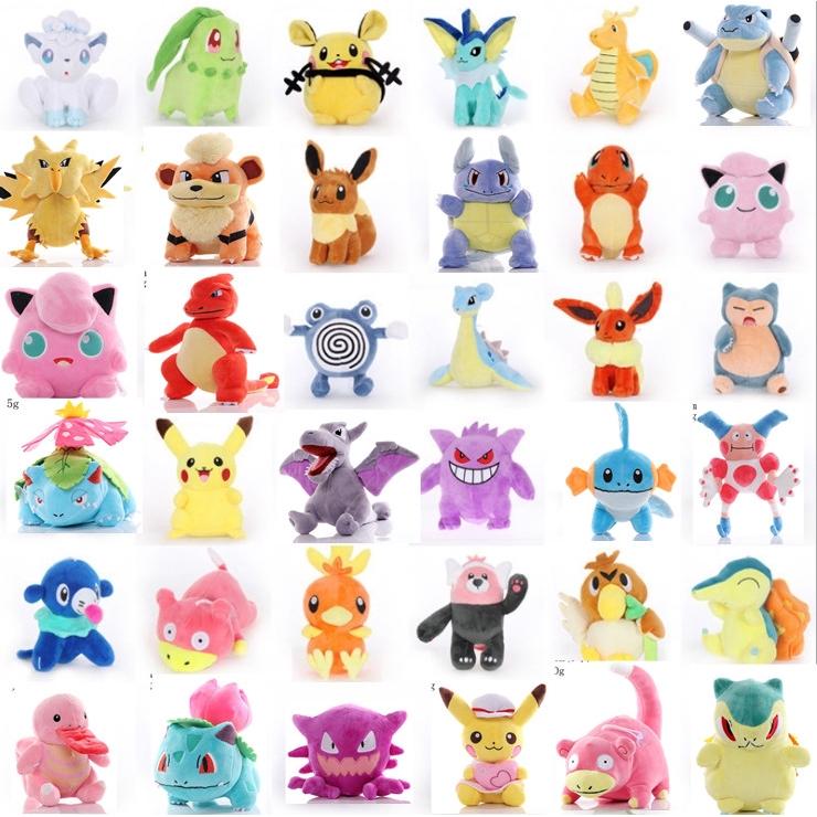 Pokemon Ainme Pikachu Keychain Ornament Cute Plush Stuffed Toy Kid/'s  Doll Toys