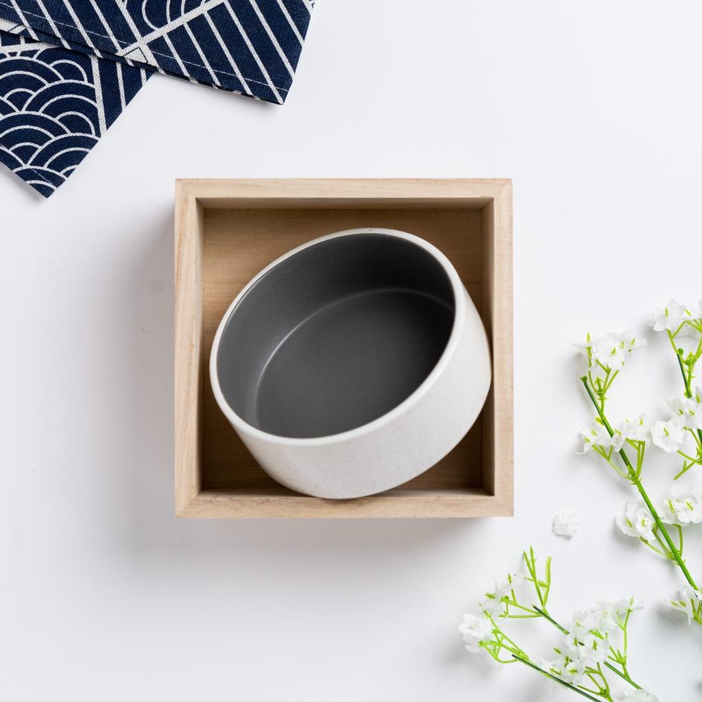 Japanese Space Grey White Vertical Ceramic Bowl And Mug Set Decorative Tableware Mungkuk Dan Cawan Set日式陶瓷碗和杯