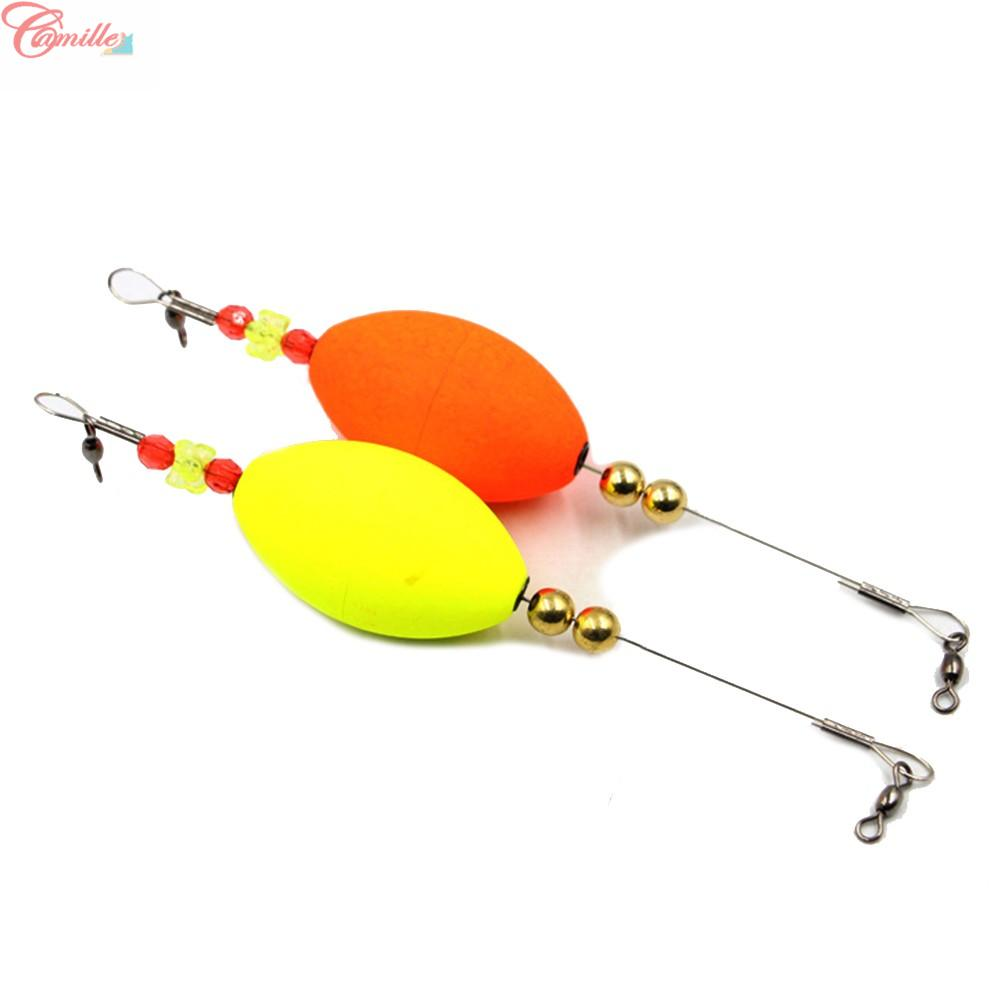 Popping Cork Fishing Float Wire Cork Foam+Wire+Copper Beads For Redfish Bobbers