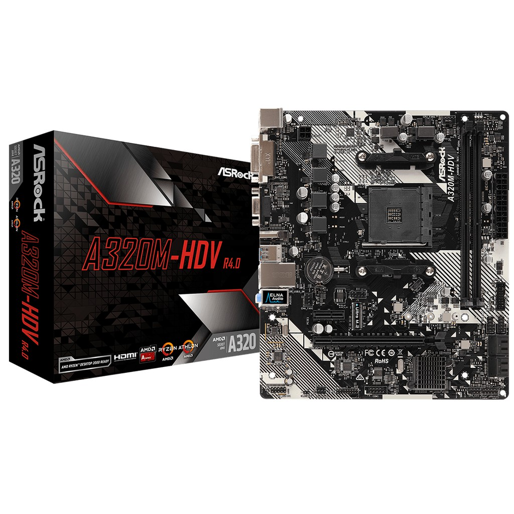 # ASROCK A320M-HDV R4 0 mATX Motherboard # AMD AM4 [PROMO]