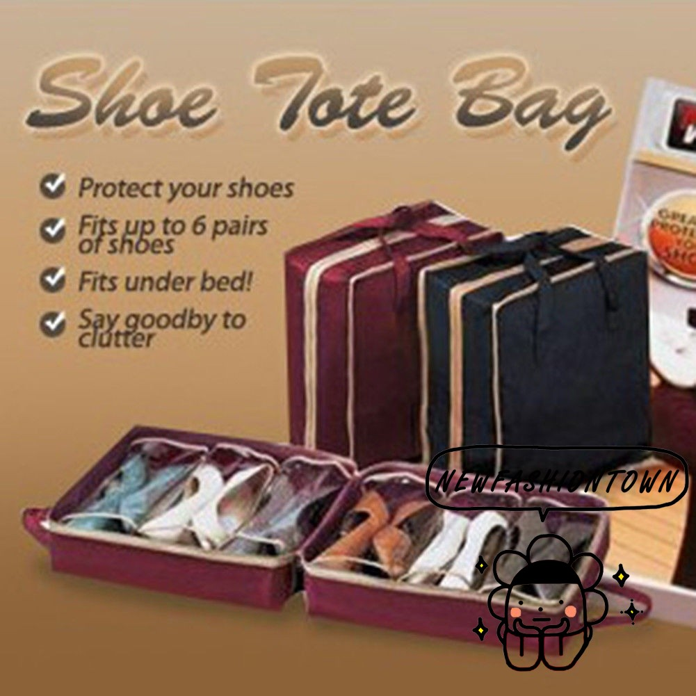 Shoes Home Storage Solutions Shoes Storage Under Bed Shoe Organizer Holder Container Closet Box Bag