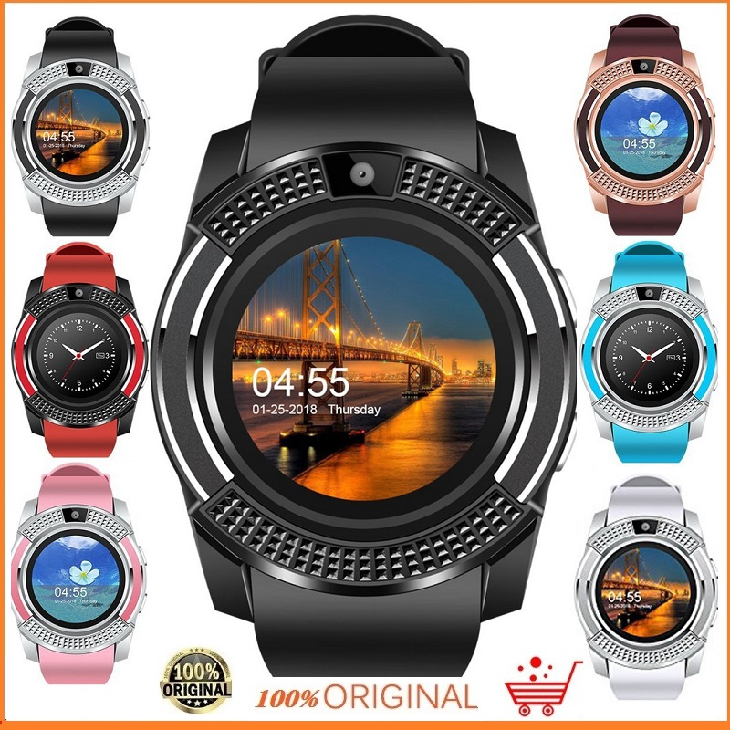 V8 Smart Watch Bluetooth Sport Watch Android Support TF SIM Smartwatch  Suitable for Android