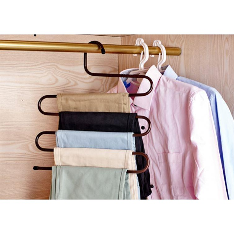 (Ready Stock)Set 4 Pieces: Zigzag Layer Multi - Hanger Clothes Organizer