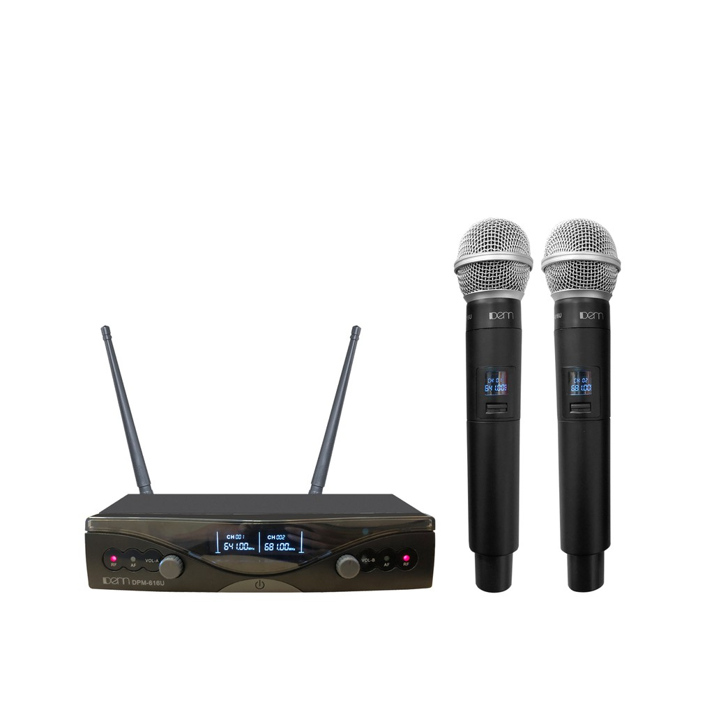 DENN DPM-616U(HH) Ultra High Frequency (UHF) Wireless Microphone - Certified by MCMC
