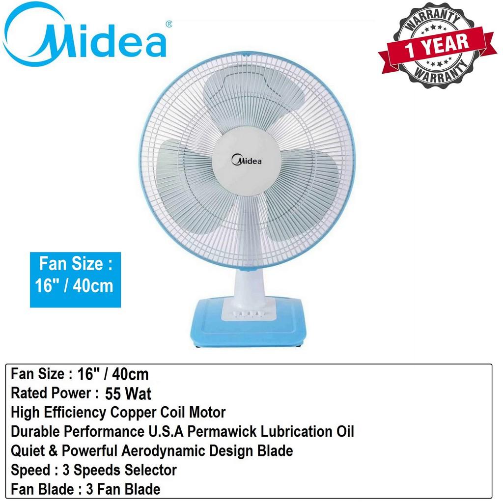 """Midea Electric Table Fan 16""""/40cm - MF-16FT17NB"""