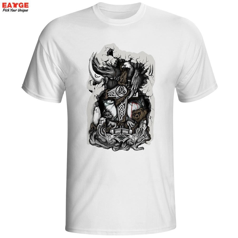 dfad82a3b Fashion tee Marvellous Great Odin King Face Thor Comics Anime White 01  Cotton Men T Shirt | Shopee Malaysia