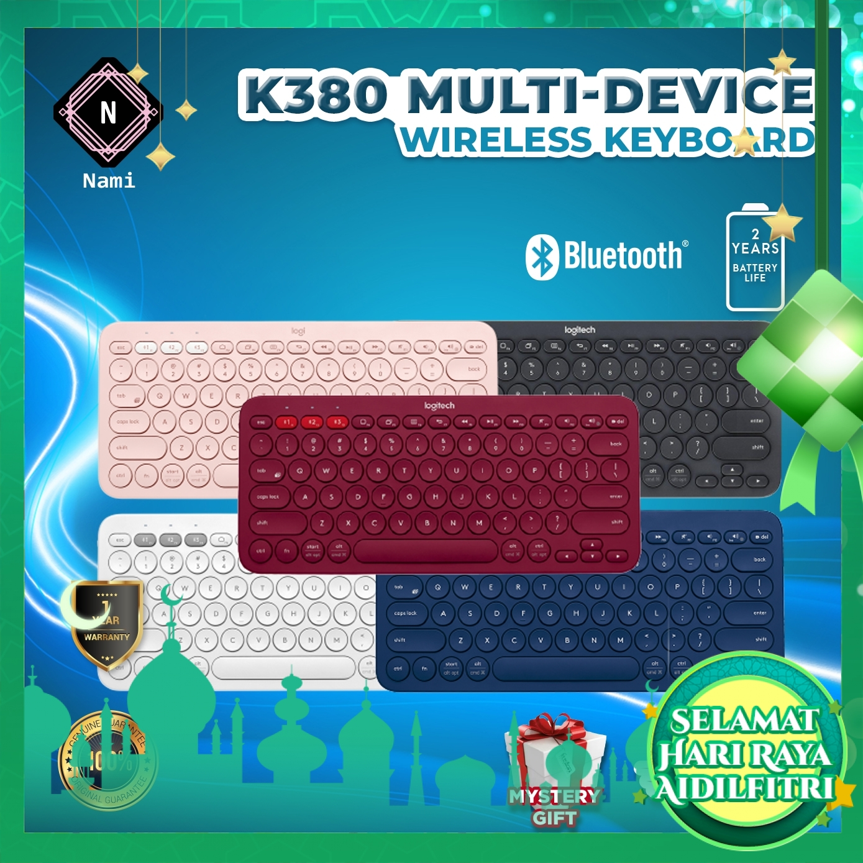 Logitech K380 Multi-Device Bluetooth Keyboard (EXTRA Protection + Fragile Sticker)