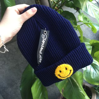 d747b1122d3  VIVIAN Ready stock Korean Fashion Korea Harajuku soft sister wild men and  women knit hat autumn and winter smiley face