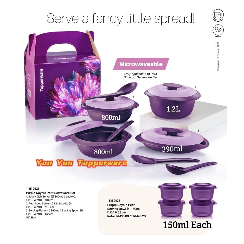 Tupperware Purple Royale Serveware Set + Gift Box