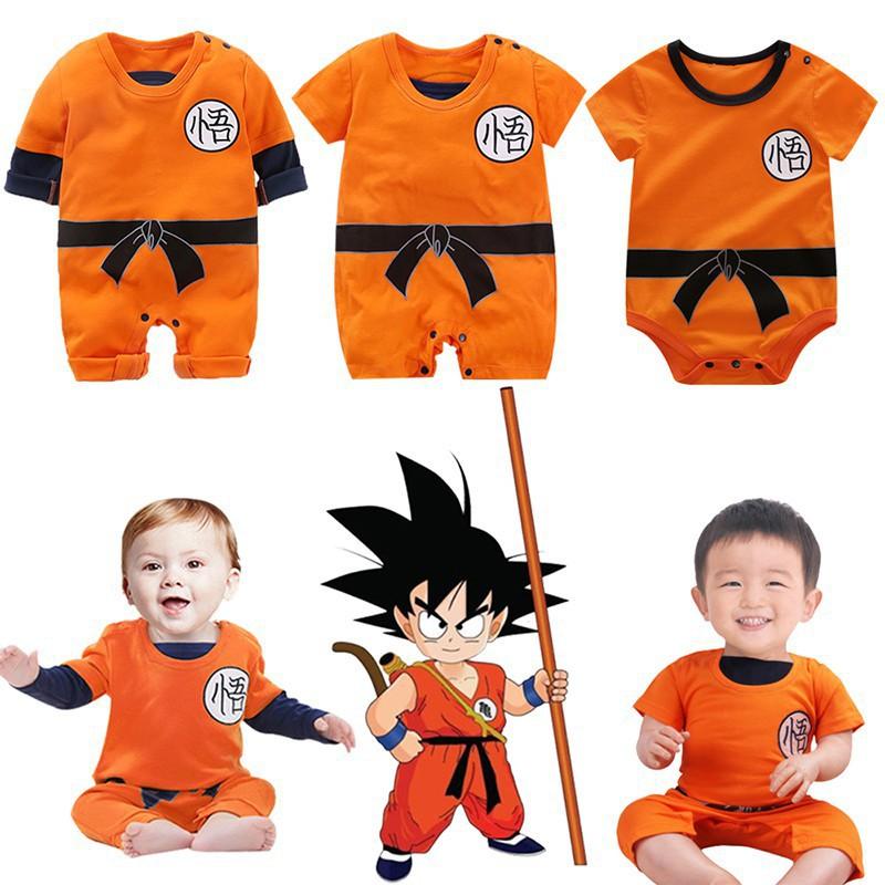 625b709c4350 Baby Dragon Ball Goku Costume Newborn Infant Boy Clothes Romper ...