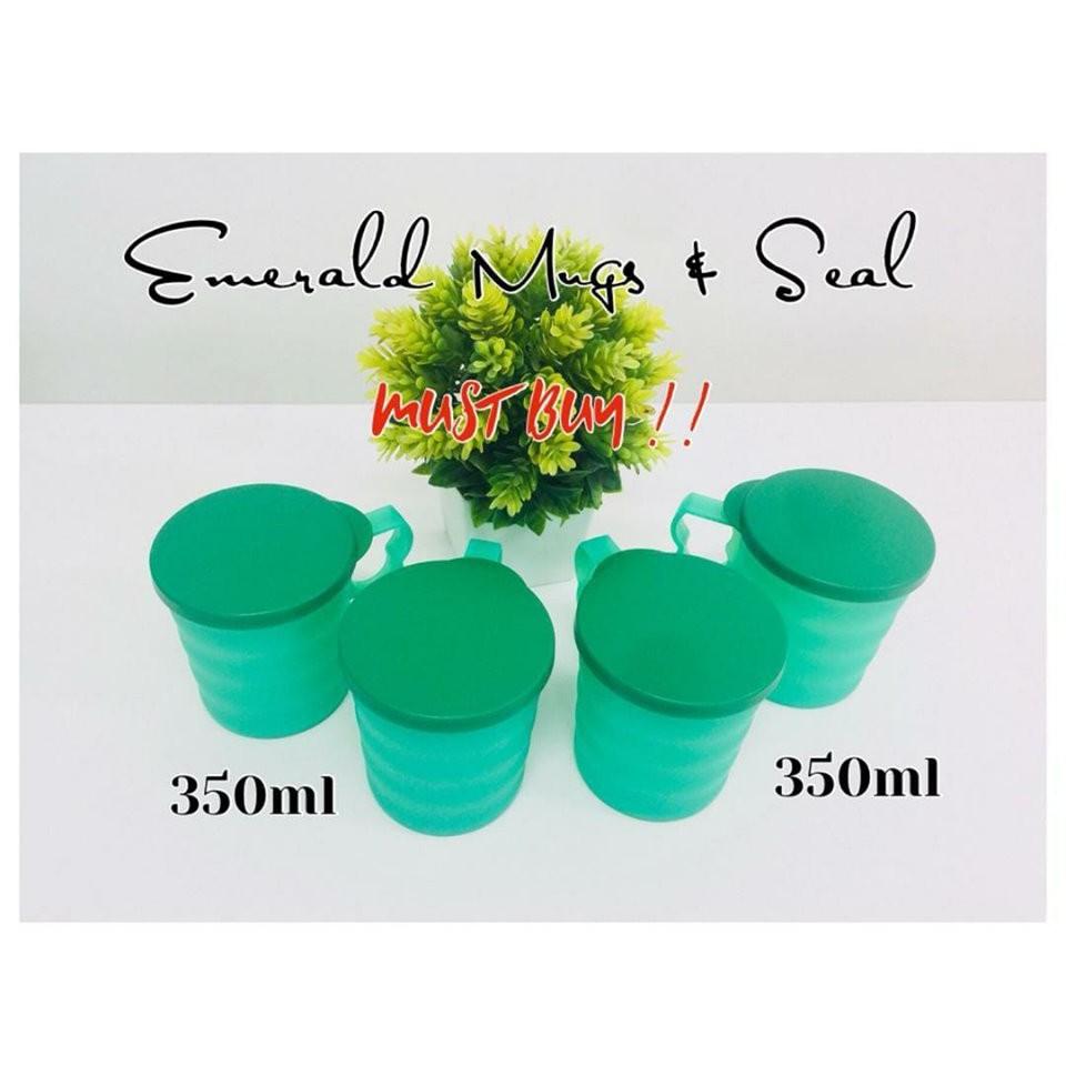 Emerald Mug & Seal Tupperware (4) 350ml