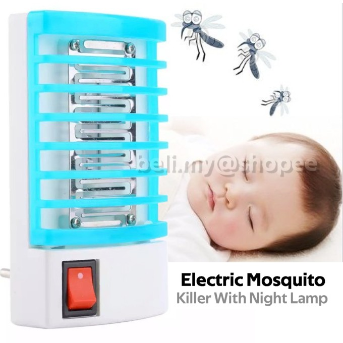 Electronic Mini LED Mosquito Repeller Mosquito Killer Lamp EU Plug
